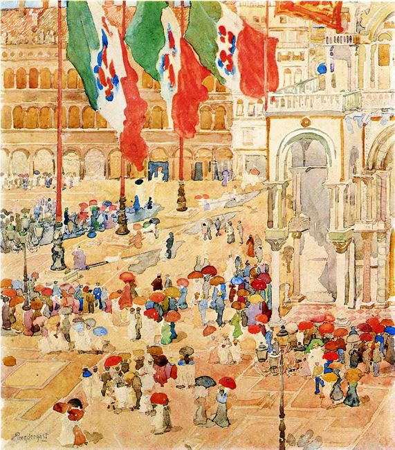 The Piazza Of St Marks Venice