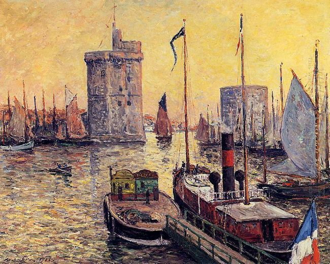 The Port Of La Rochelle At Twilight 1911