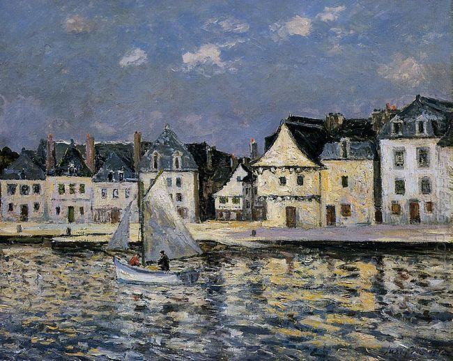 The Port Of Saint Goustan 1912