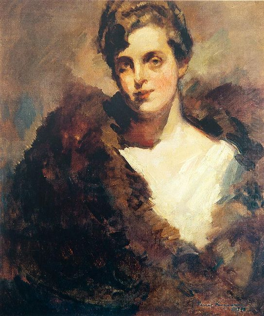 The Portrait Of Mariinsky Theatre Singer Vera Aleekseevna Dorofe
