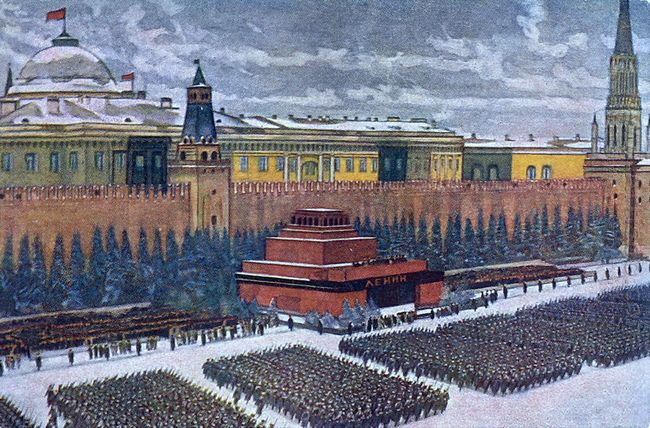 The Red Army On Parade In Red Square Moscow November 1940 1940