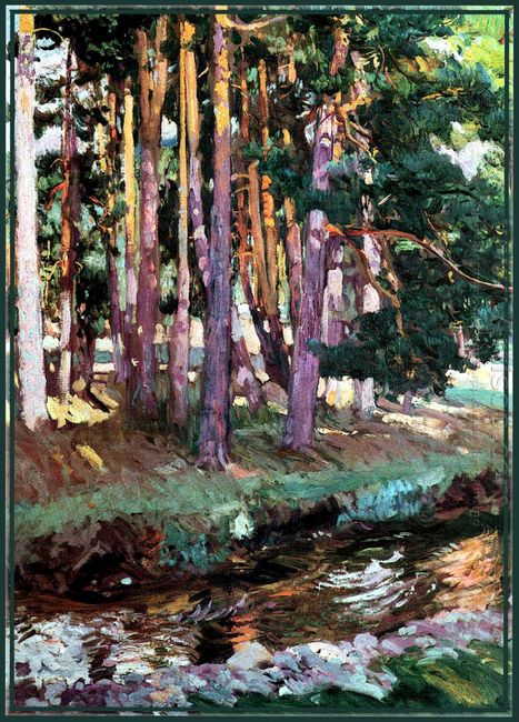 The River La Reina Valsain 1907