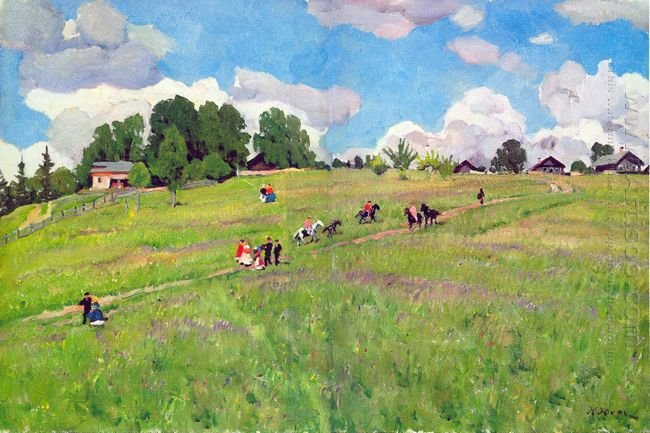 The Rural Holiday On The Hill Ligachrvo 1923