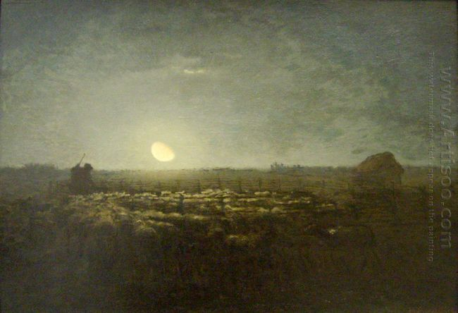 The Sheep Pen Moonlight 1873