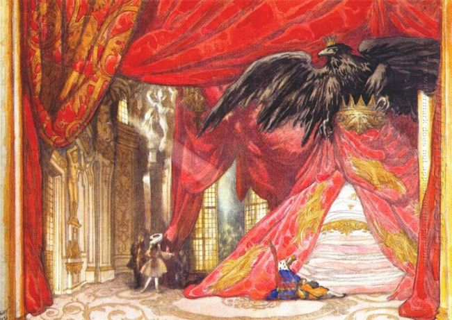 The Sleeping Beauty Design For Scene Iv The Awakening 1921