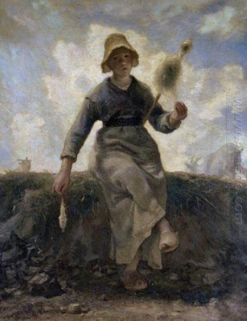 The Spinner Goatherd Of The Auvergne 1869