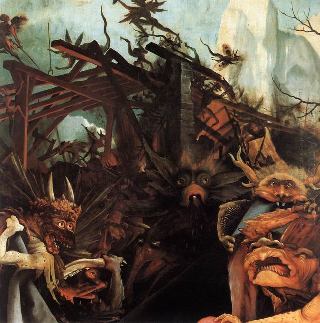 The Temptation Of St Anthony Detail 1515 1