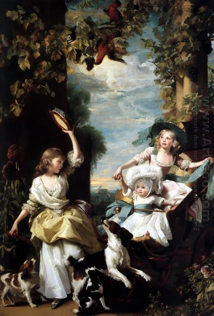 The Three Youngest Daughters Of George Iii 1785
