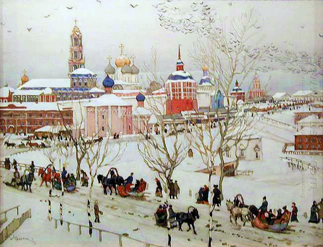 The View Of Monastery Fron The Vokzalnaya Street 1911
