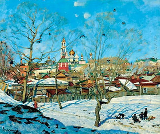 The View Of Troitse Sergiyev Monastery 1921
