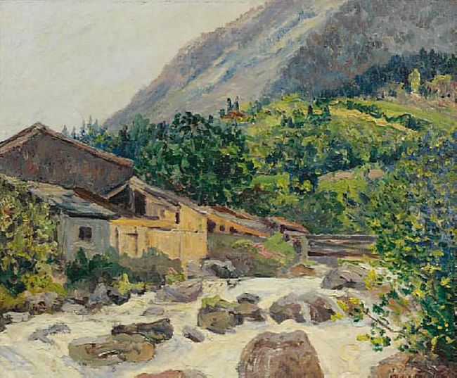 The Village On The River Bozel 1914