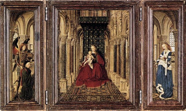 The Virgin And Child In A Church 1437