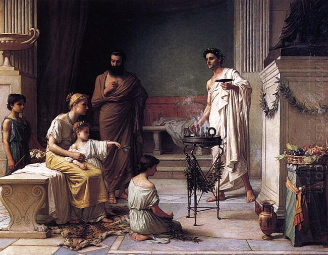 The Visit Of A Sick Child To The Temple Of Aesculapius 1877
