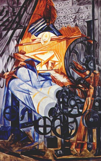 The Weaver Loom Woman 1913