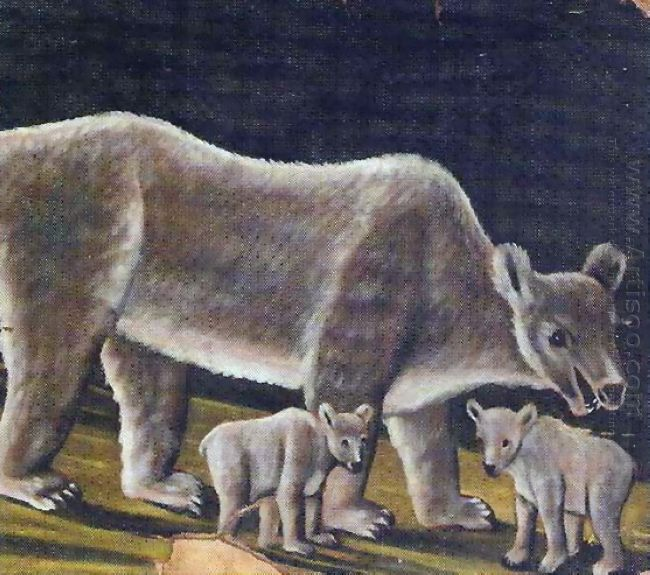 The White Bear With Cubs 1912
