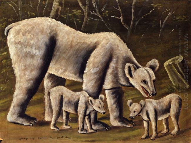 The White Bear With Cubs