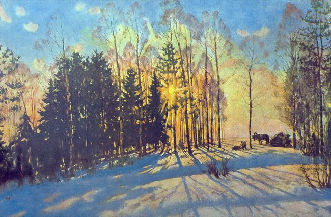 The Winter Sun Ligachevo 1916