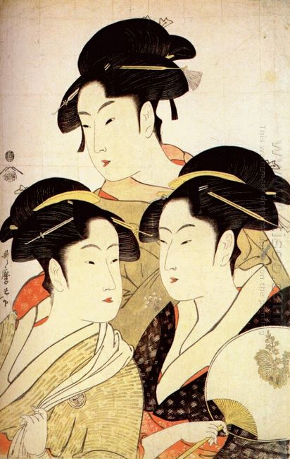 Three Beauties Of The Present Day 1793