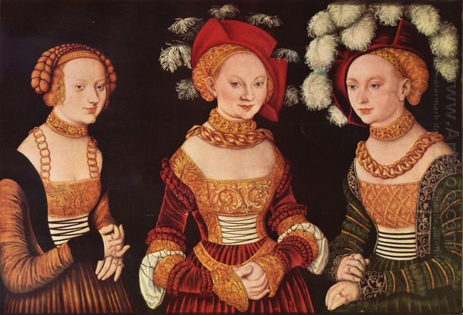 Three Princesses Of Saxony Sibylla Emilia And Sidonia Daughters