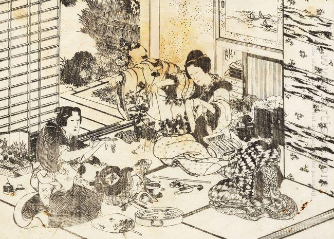 Three Women And Two Children
