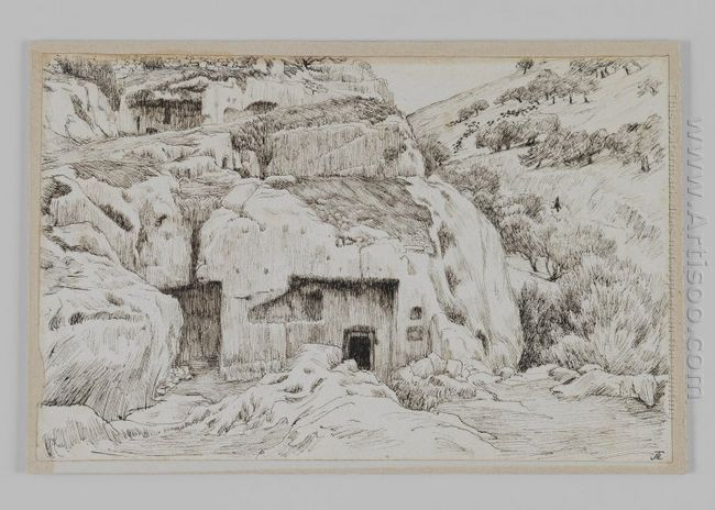 Tombs In The Valley Of Hinnom 1889