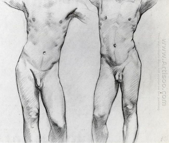 Torsos Of Two Male Nudes