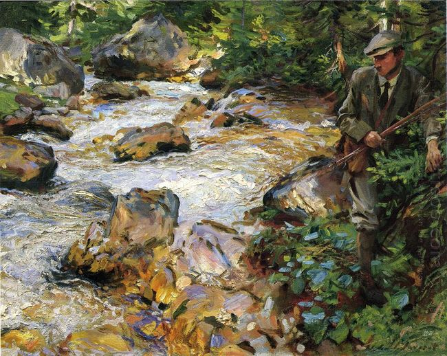 Trout Stream In The Tyrol 1914