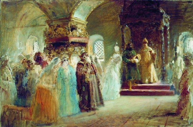 Tsar Alexei Michaylovich Choosing A Bride 1887