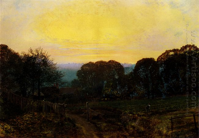 Twilight The Vegetable Garden 1869