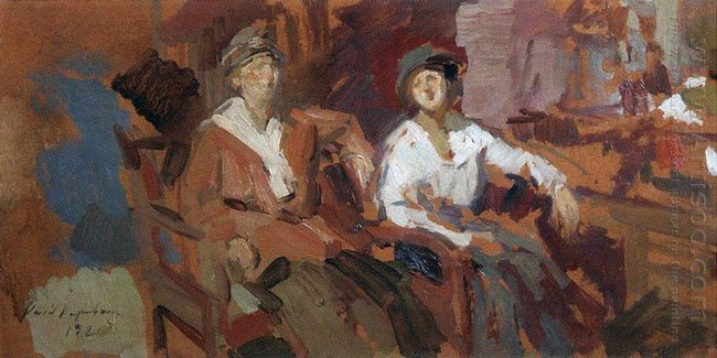 Two In A Chair 1921