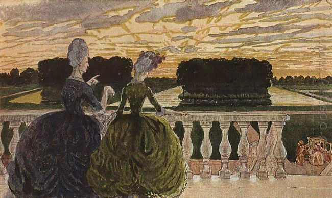 Two Ladies On The Terrace