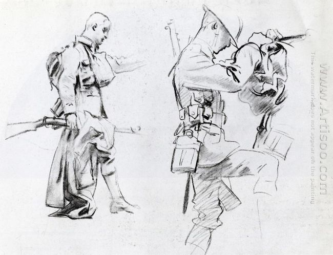 Two Studies For Soldiers Of Gassed