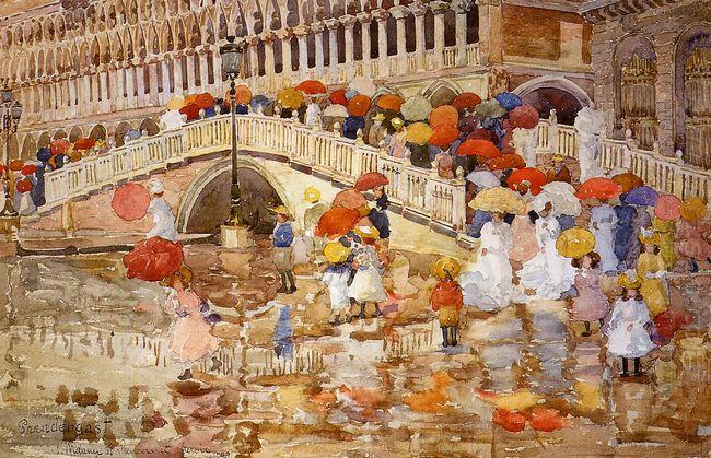 Umbrellas In The Rain 1899