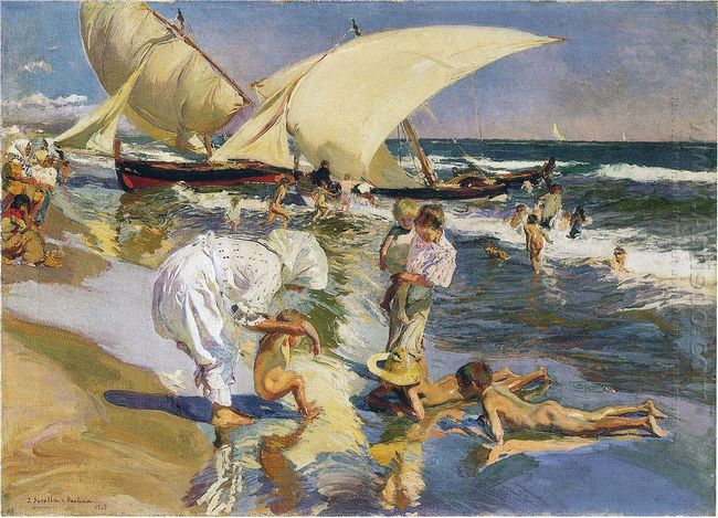 Valencia Beach In The Morning Light 1908