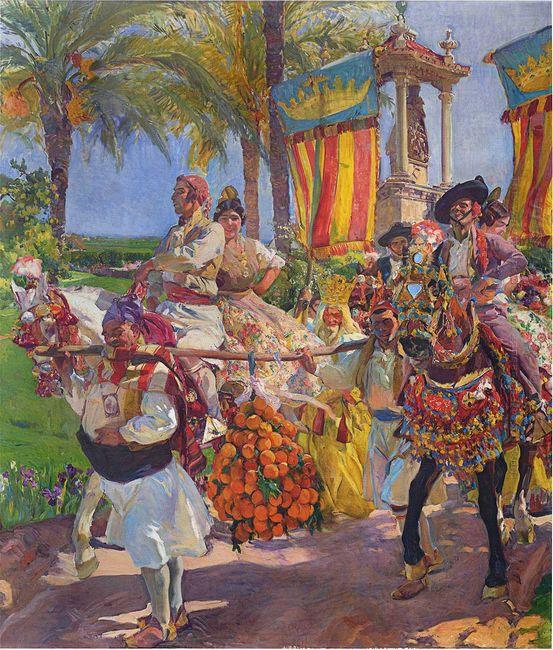 Valencia Couples On Horseback 1916