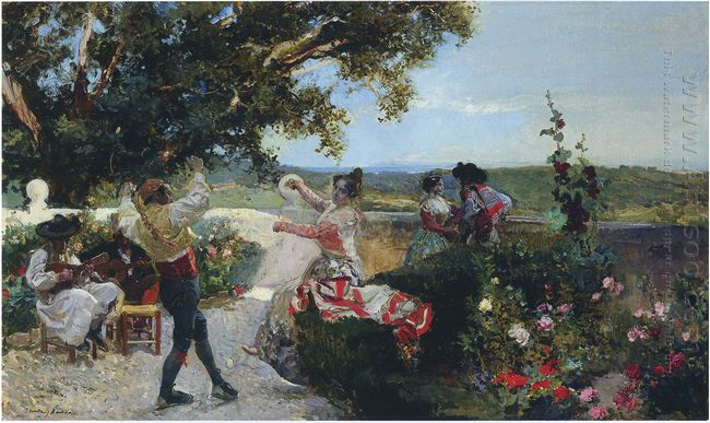 Valencian Dance In An Orange Grove 1898