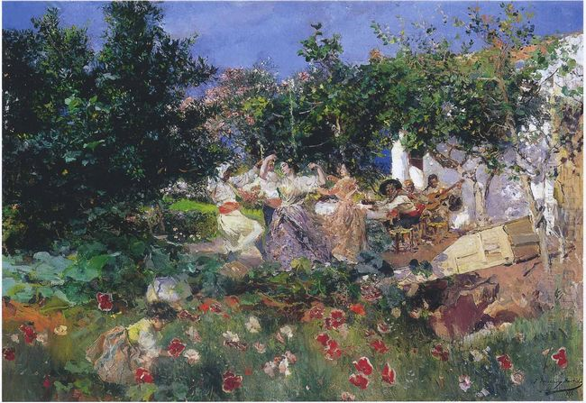 Valencian Fiesin An Orange Grove 1898