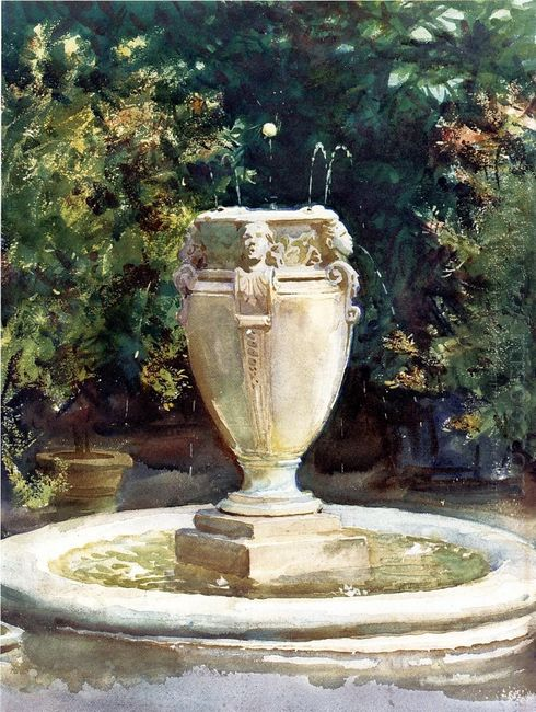 Vase Fountain Pocantico 1917