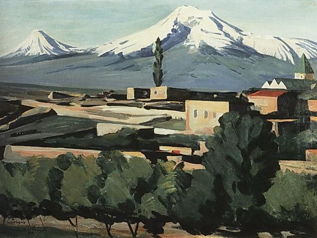 View Of Ararat From Yerevan 1923