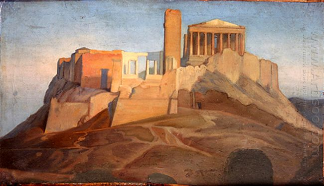 View Of The Acropolis Of Athens 1849