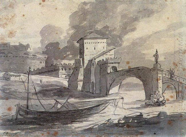View Of The Tiber And Castel St Angelo 1776