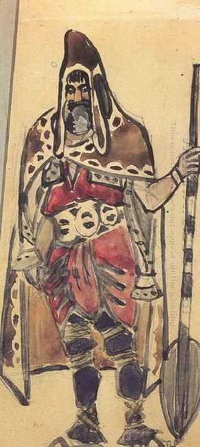 Viking Merchant Costume Design For The Opera Sadko 1897