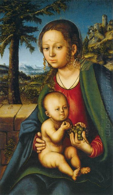Virgin And Child With A Bunch Of Grapes 1510
