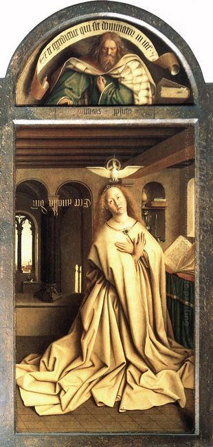 Virgin Annunciate From The Exterior Of The Right Panel Of The Gh