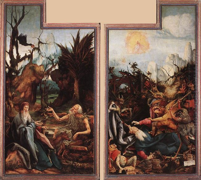 Visit Of St Anthony To St Paul And Temptation Of St Anthony