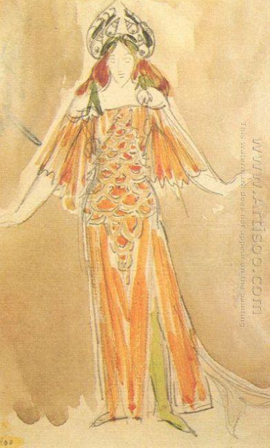 Volkhova The Sea Princess Costume Design For The Opera Sadko 189