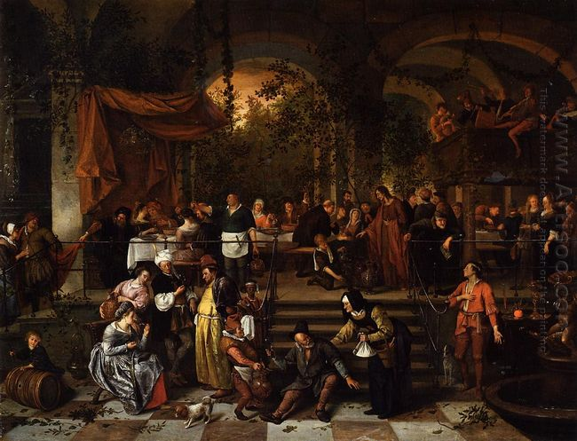 Wedding Feast At Cana 1672