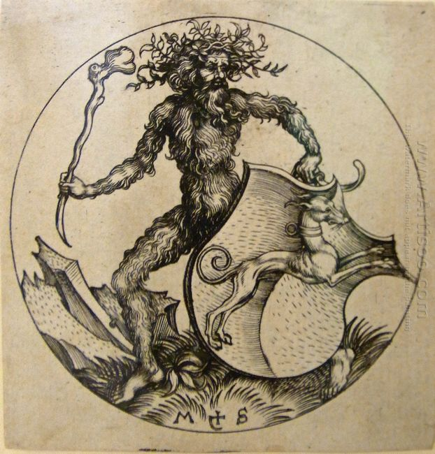 Wild Man With Shield 1490