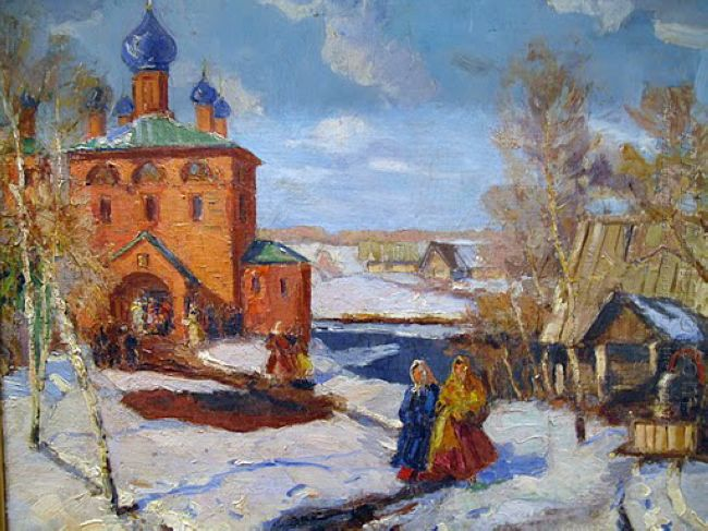 Winter Landscape With The Red Church