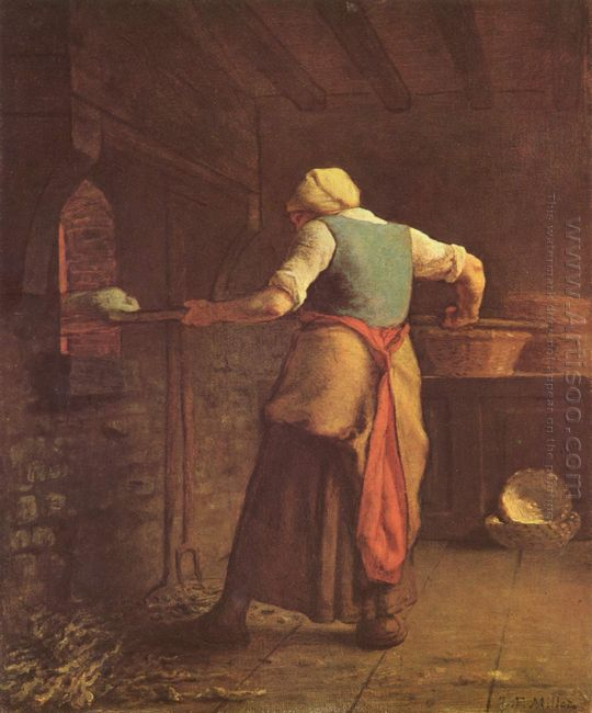 Woman Baking Bread 1854